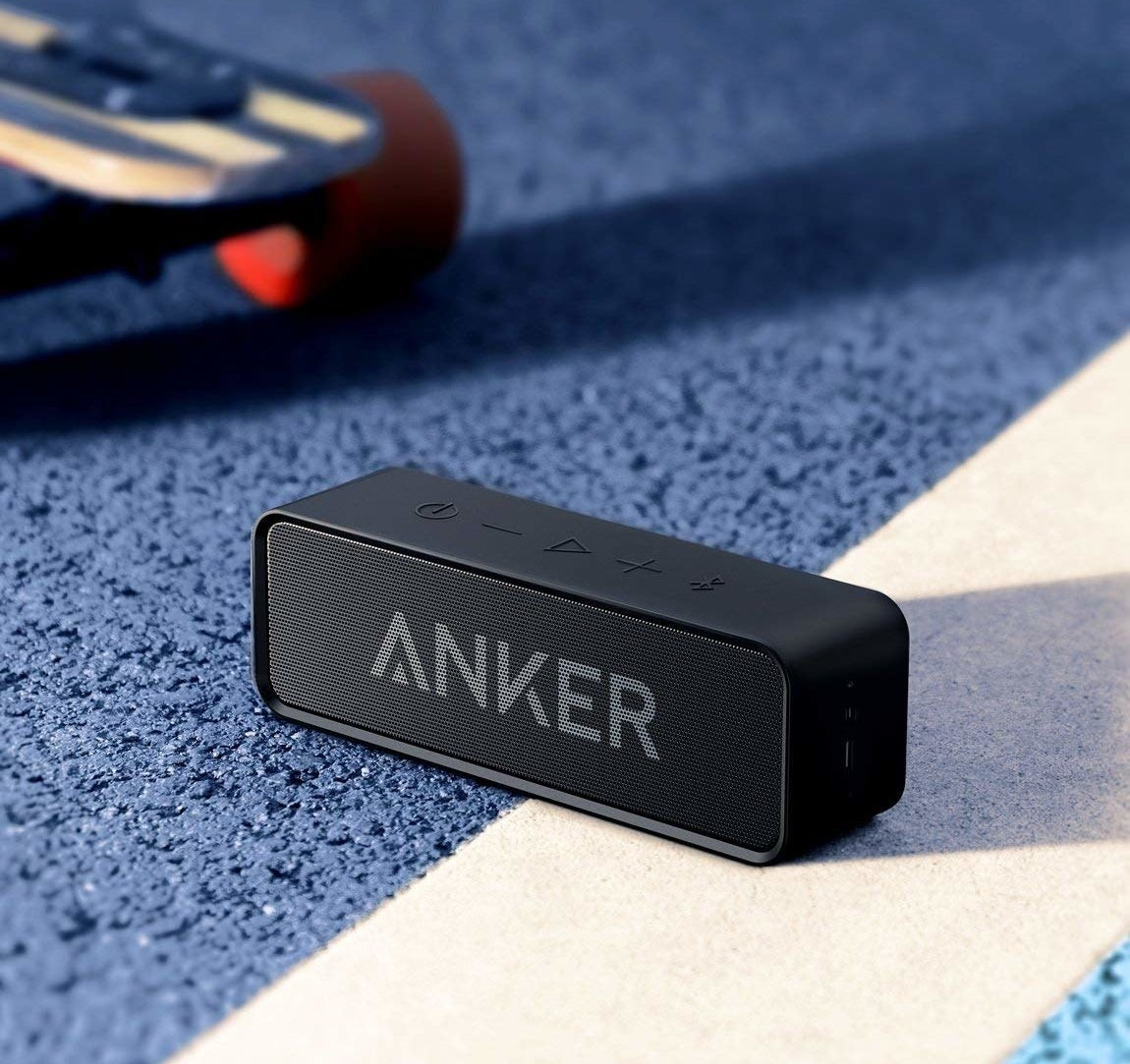 Bluetooth speaker on ground
