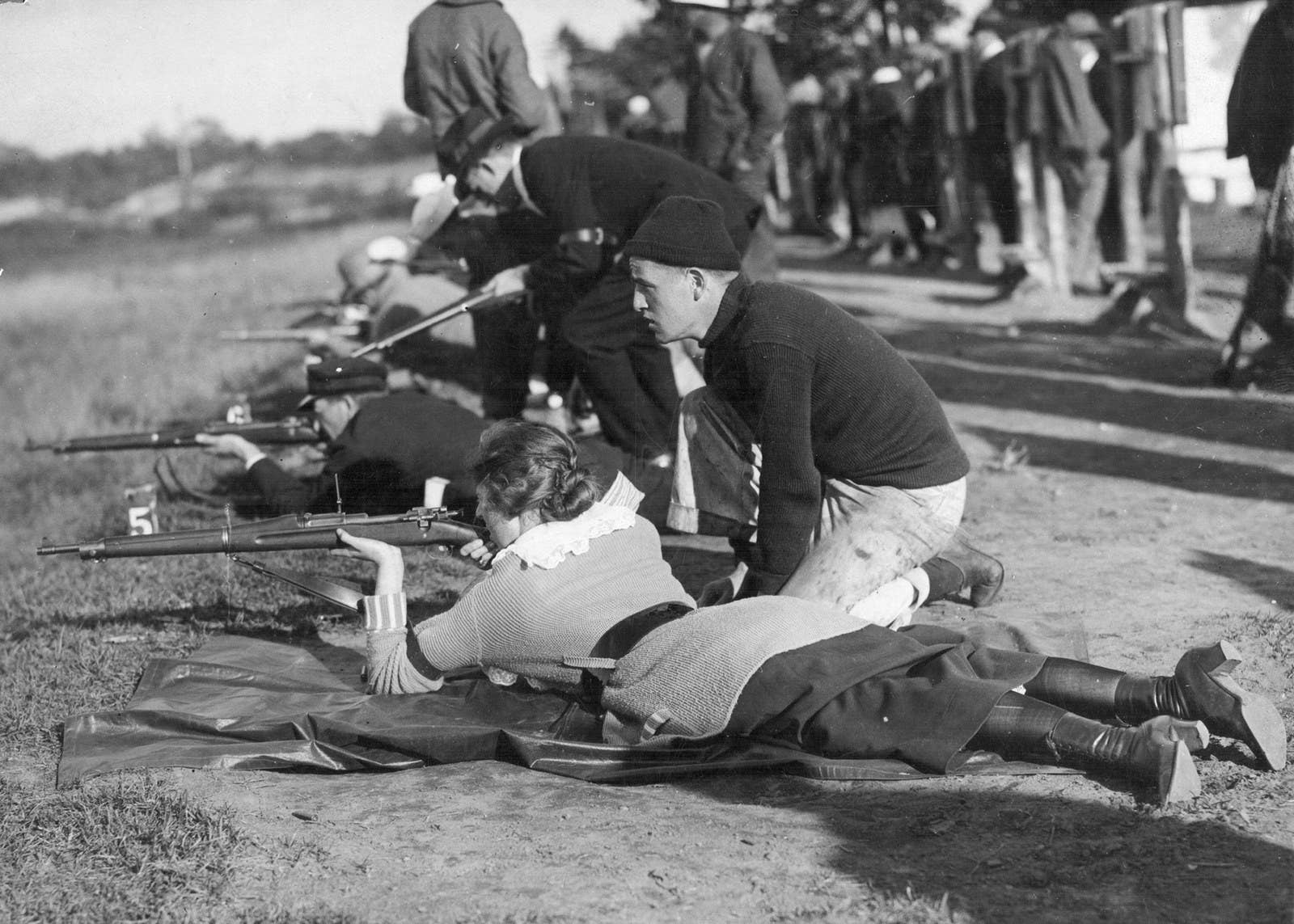 Target practice in Wakefield, Massachusetts, circa 1916.