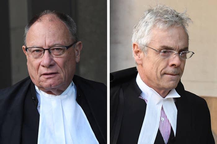 Rush's barrister Bruce McClintock SC (left); Nationwide News barrister Tom Blackburn SC.