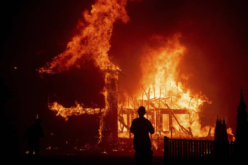 Wildfire Destroys Hundreds Of Structures, Forces Tens Of Thousands To Flee In Northern California