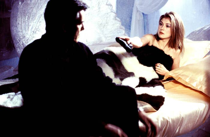 Brosnan and Pike in Die Another Day.
