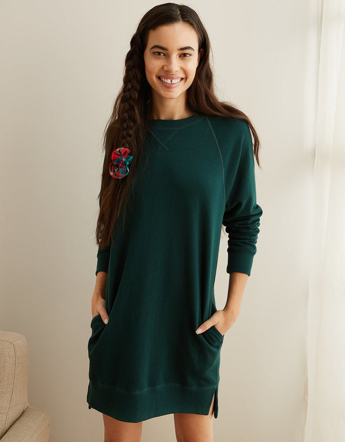 "Promising review: ""It's so comfy and cute. I wore it with my long boots, and it's great for the season!"" —SOFIEGet it from Aerie for $37.46 (available in sizes XXS-XXL and in green and blue)."