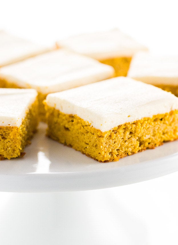 Made with pumpkin purée, egg, cream cheese, and coconut oil, you'd never guess that these moist pumpkin pie bars are low-carb. Get the recipe.