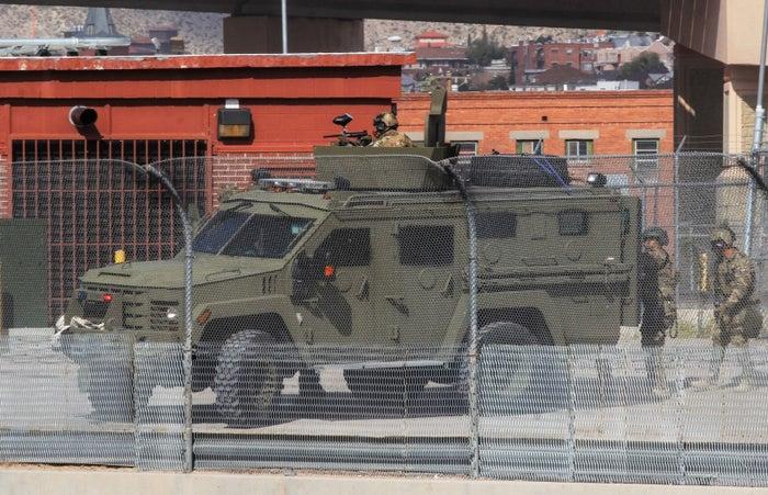 A US Border Patrol tactical group in El Paso, Texas.