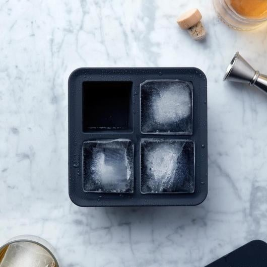 The tray makes four ice cubes and uses an internal steel frame to support the tray as you fill and transport it to the freezer. Fancy!Price: $11.95