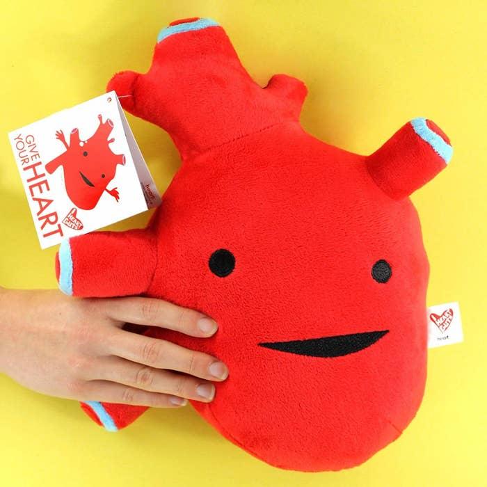 a heart plush
