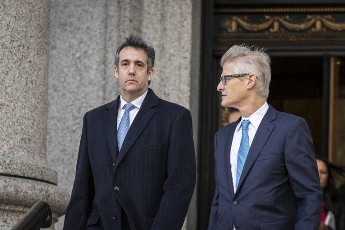 Cohen with his attorney, Guy Petrillo.