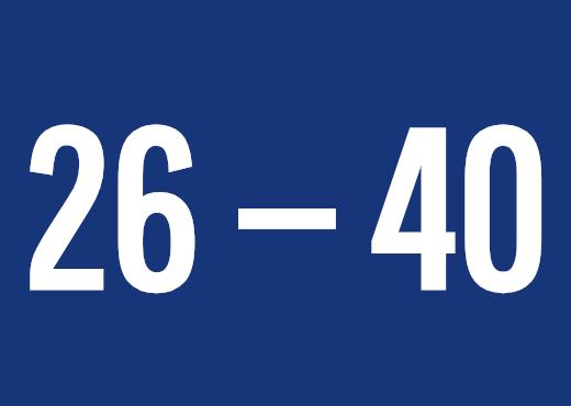 26 — 40