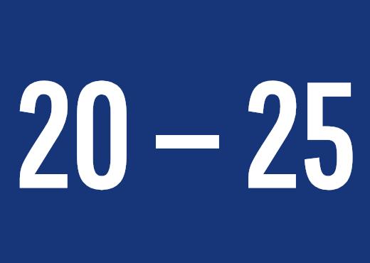 20 — 25