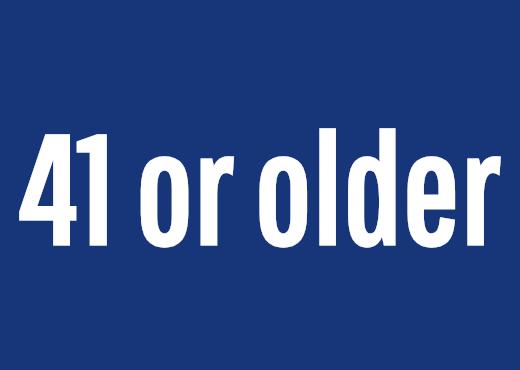 41 or older
