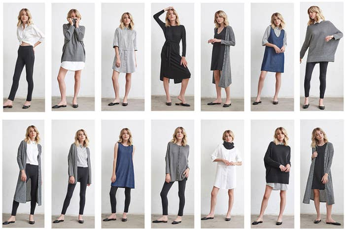 """Usually between a Medium and Large, I ordered a size Medium in everything — hoping that everything would fit — and it did. Even the pants, which are just the right amount of stretchy to feel like leggings but look professional for work, feel just right! Right now, Vetta comes in sizes XS-XL, and I'm hoping they'll include more inclusive sizing in the future.The Minimal Capsule costs $529 with the code """"Minimalcapsule"""" for all 5 pieces, but you can buy them individually, too."""