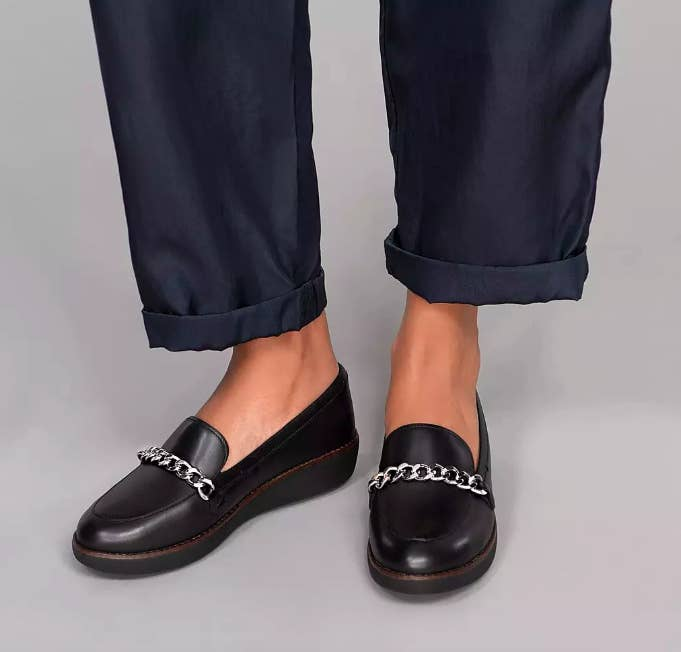 2f1e2f53b A pair of leather loafers to walk on cloud nine all darn day — all while  looking sophisticated and on-trend.