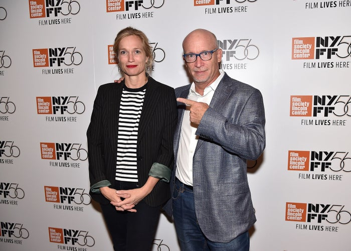 Alexis Bloom and Alex Gibney at the New York Film Festival in October.