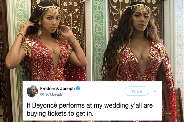 People Hired Beyoncé To Perform At Their Wedding And Twitter Has QUESTIONS 1