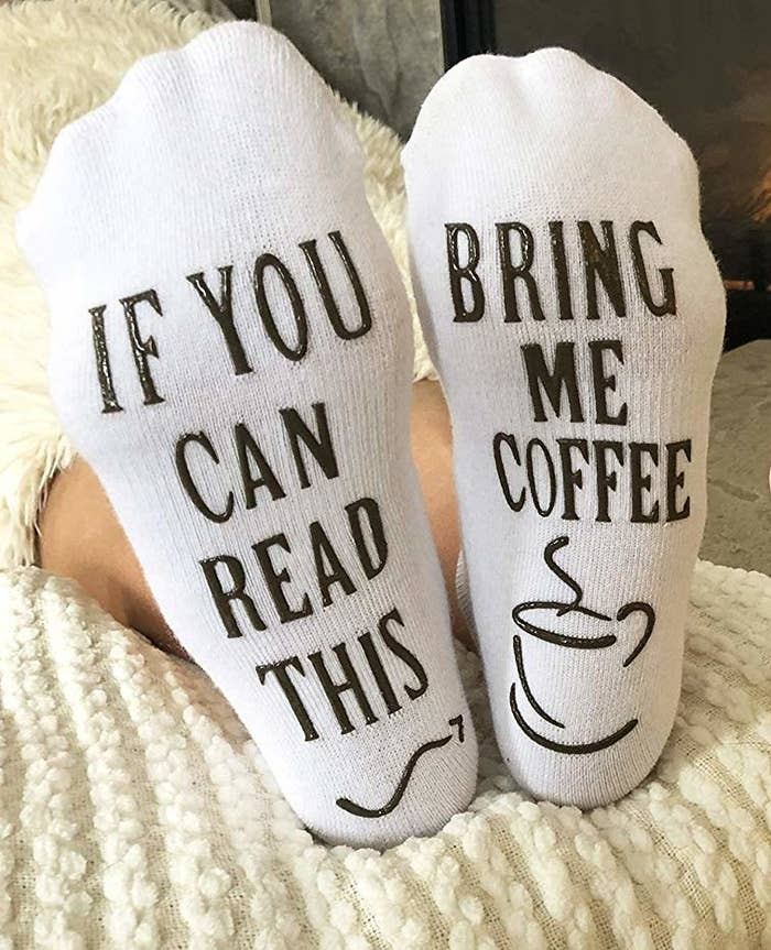 2ea35716f6a82 Cotton socks you'll want to give the pal who guzzles away half of their  paycheck at Starbucks. Or Dunkin' Donuts. Amazon