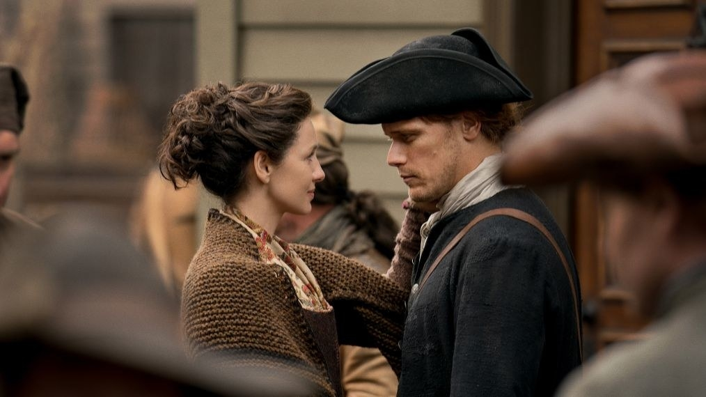 "Claire and Jamie from  Outlander  -  ""The past four seasons have been rough for Jamie and Claire, but this year they're finally together and building a life in America. Honestly, from Jamie carrying Claire across the threshold in their new home to Jamie telling Claire his soul is hers forever, I can't help but swoon over them every week."" — noradominick"