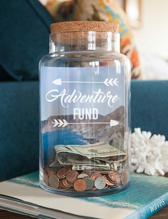 """Promising review: """"Absolutely love this jar! Great product, easy to use, and it was easy to communicate with shop owner when I had questions. I would totally recommend!"""" —Isabel LongeneckerGet it from WestridgeART on Etsy for $2.72+ (available in 10+ styles and colors)."""