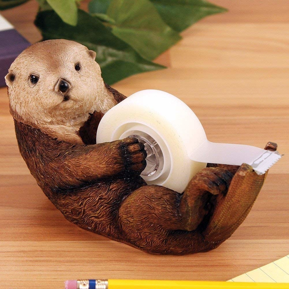The otter-shaped dispenser