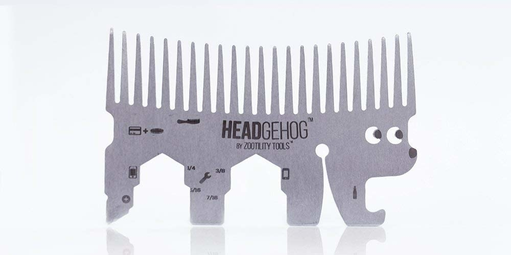 The multitool shaped like a hedgehog, with the spikes forming a comb