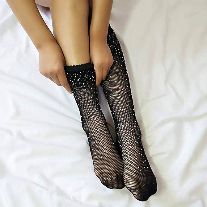 """Promising review: """"I wore these when I performed in Nashville after seeing Miranda Lambert wear a similar kind. I wanted some as well because they looked awesome! They were amazing! You have to be careful when you put them on because they are delicate but so worth it. They look like the $100 kind once you have them on!"""" —TiffanyGet them from Amazon for $0.99+ (available in 10 colors and styles)."""