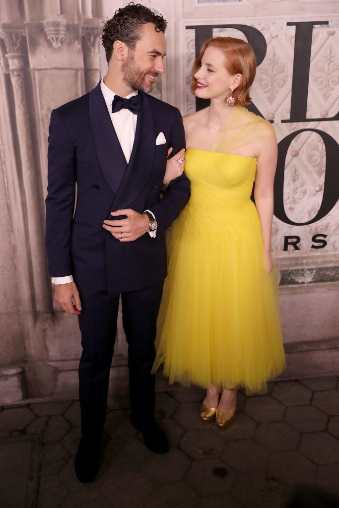 Jessica Chastain and Gian Luca Passi de Preposulo -  The couple  reportedly  welcomed a daughter via surrogate during the summer.