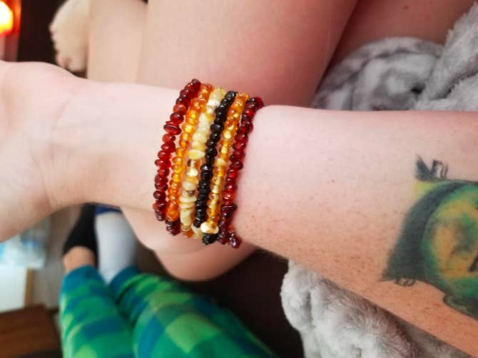 "Promising review: ""Very well made. I wear all kinds of amber every day for beauty and health. This bracelet has held up perfectly and it is an attractive combination of the many colors of amber."" —MantesePrice: $28.89"