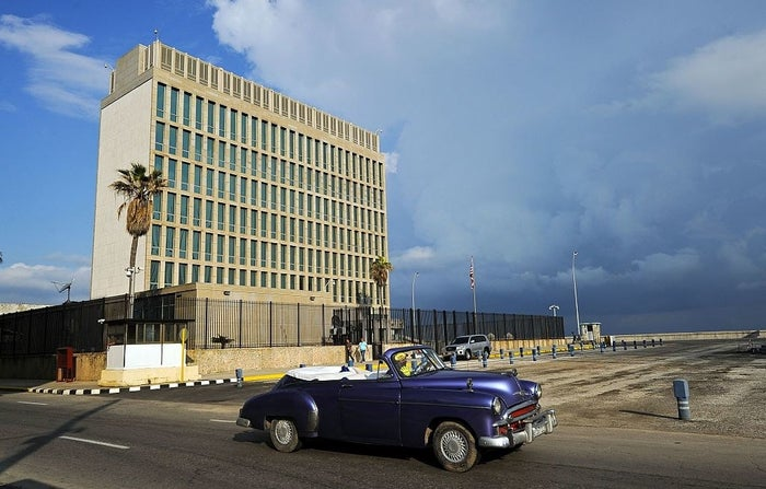 The US Embassy in Havana.
