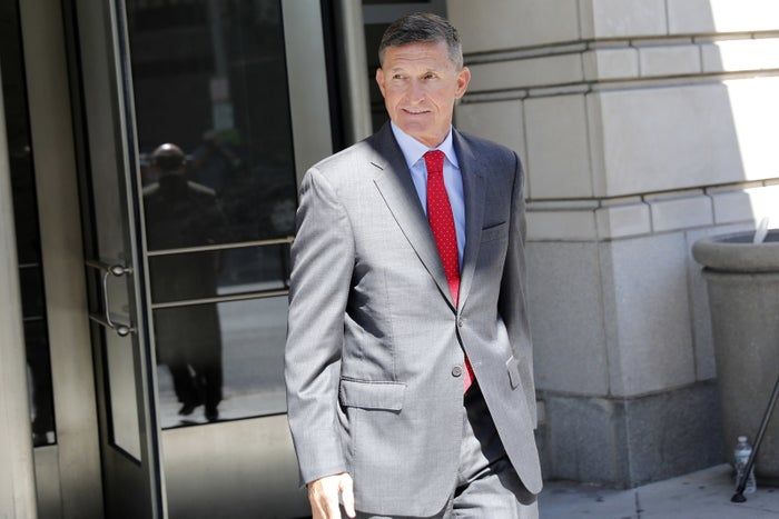 Michael Flynn leaves the federal courthouse in Washington on July 10, 2018.