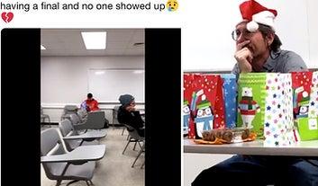 Un profesor retó a sus alumnos a hacer un video viral como tarea y los estudiantes engañaron a millones de personas