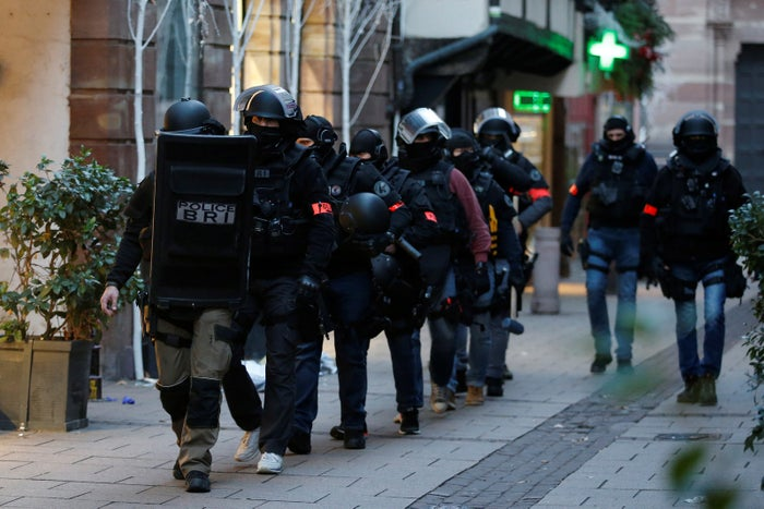 French special police forces in Strasbourg on Wednesday.