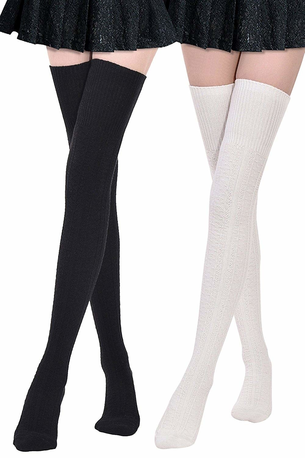 The socks in black and white