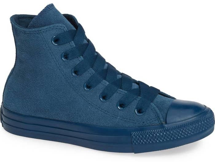 d742cfe45c5d A monochromatic pair of high-top suede Converse sneakers so you can have a  grown-up version of your favorite shoes.