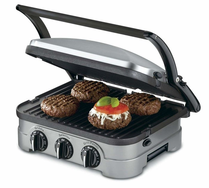 Using the Griddler is so simple a monkey could probably do it. Throw your meat on, close the double grill pans, and BOOM — dinner is served. This product is perfect for those of us with small apartments (and therefore small kitchens). I'm not sure what I would do without mine!Get it from Walmart for $104.88.