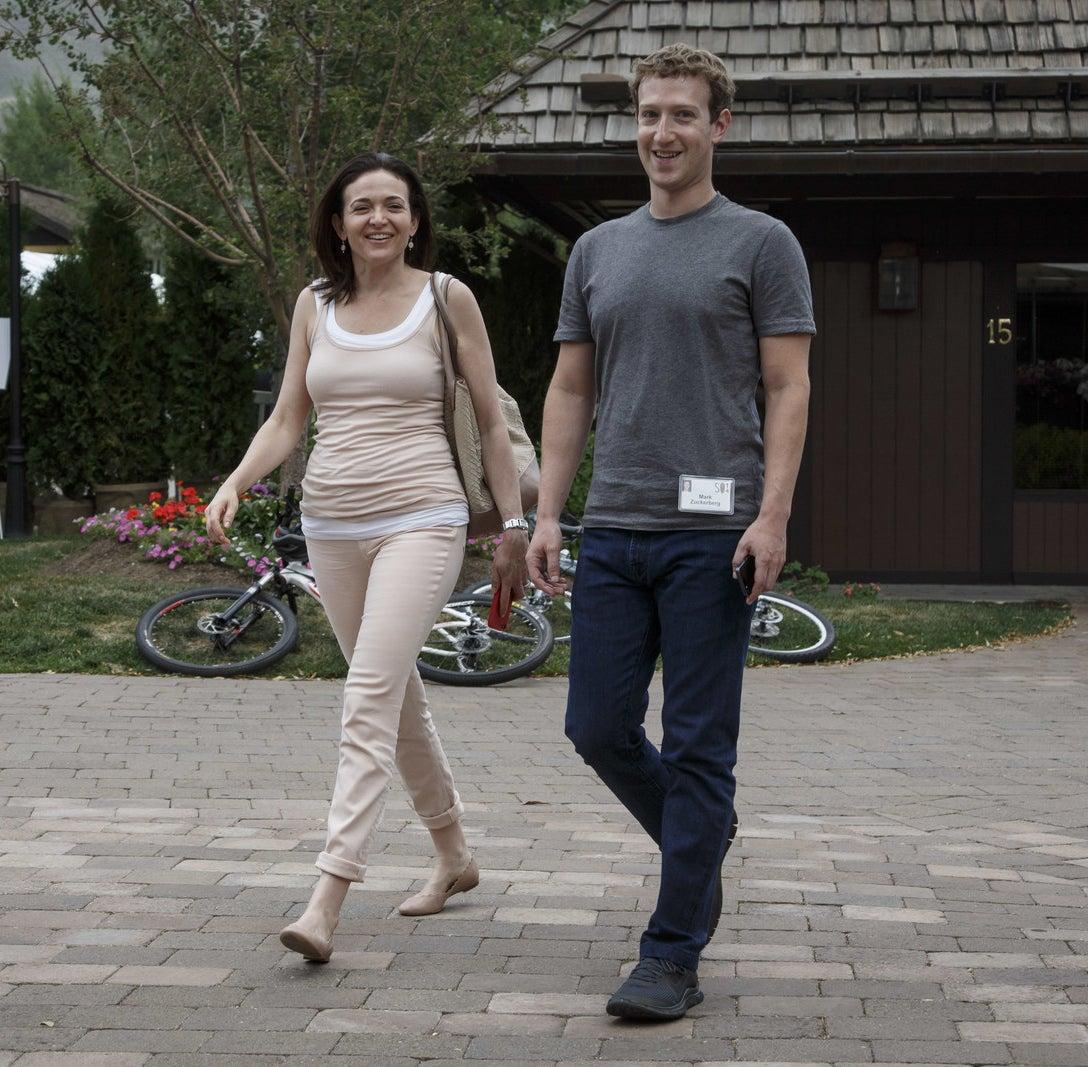 Sheryl Sandberg and Mark Zuckerberg in July 2014.