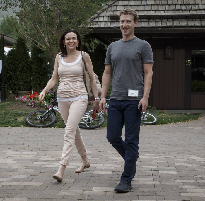 Sheryl Sandberg and Mark Zuckerberg in July 2014.