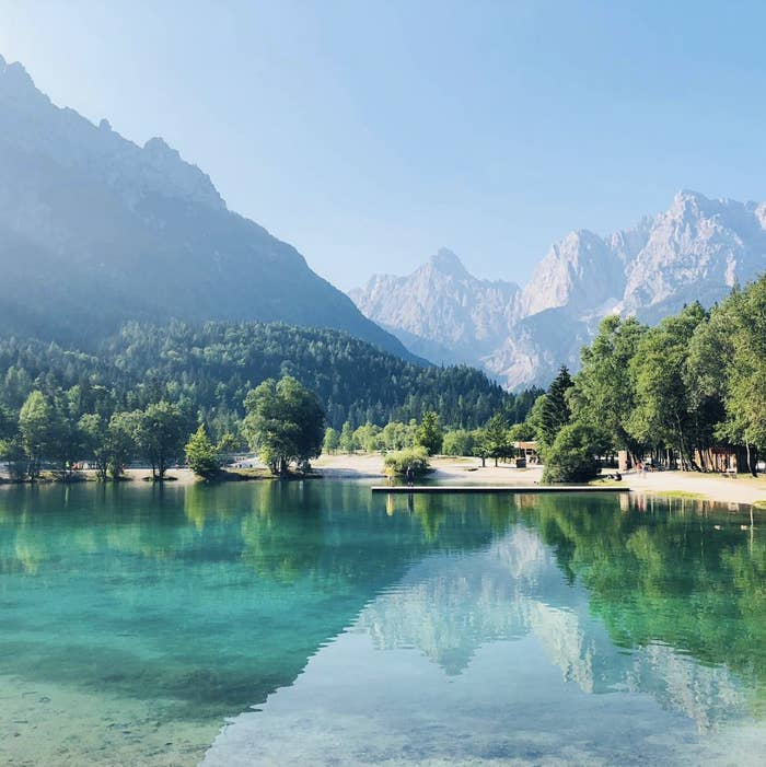 """""""I hadn't heard much about Slovenia until I decided to visit this past year — it's a nature lover's paradise. The natural beauty, countless hikes, amazing food, and genuinely nice people blew me away. The lakes were so emerald in color that they made my eyes hurt."""" —Lizz Warner"""