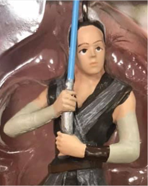 The  Star Wars  fan who ordered a Rey ornament that couldn't have looked less like Daisy Ridley if it tried