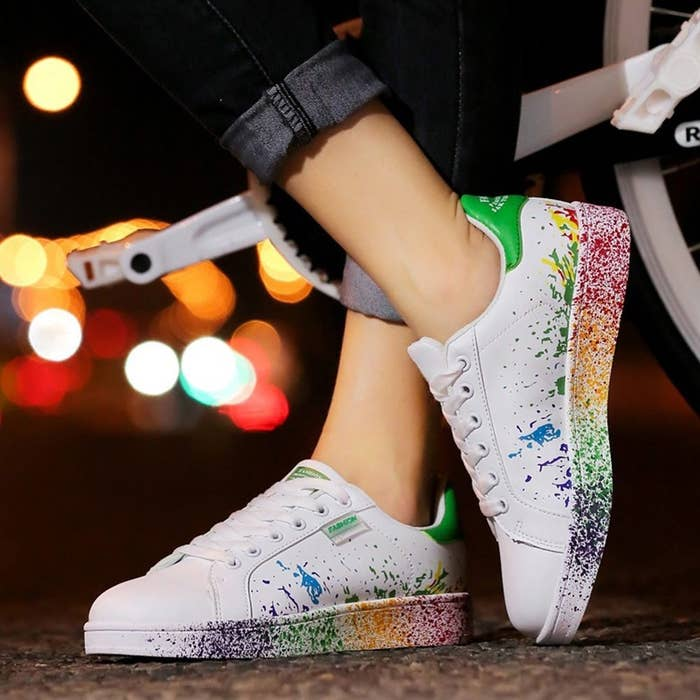 1d389766322 A vibrant pair of lace-up sneakers so you look like you ve spent the  afternoon working in your artist studio.