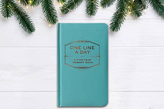 This is perfect for people who aren't big writers but like keeping a record of their precious memories in one place – they can see what they did on the same day for 5 years! It's perfect for stationery lovers who love sentimental gifts.Get it here from Amazon, £8.59