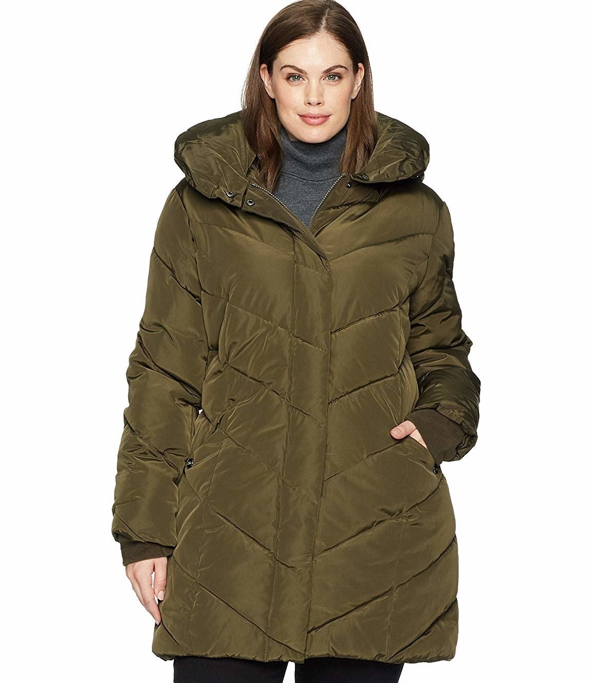 """Promising review: """"Excellent fit and very comfortable. It was a great selection for the cold NYC weather. Zipper was easy to move up and down, and the coat had room even with a sweater on underneath. I wear a 16/18, and ordered the 2XL. Perfect!"""" —SmurfettePrice: $67.99+ (available in three colors, and sizes 1XL–3XL)"""