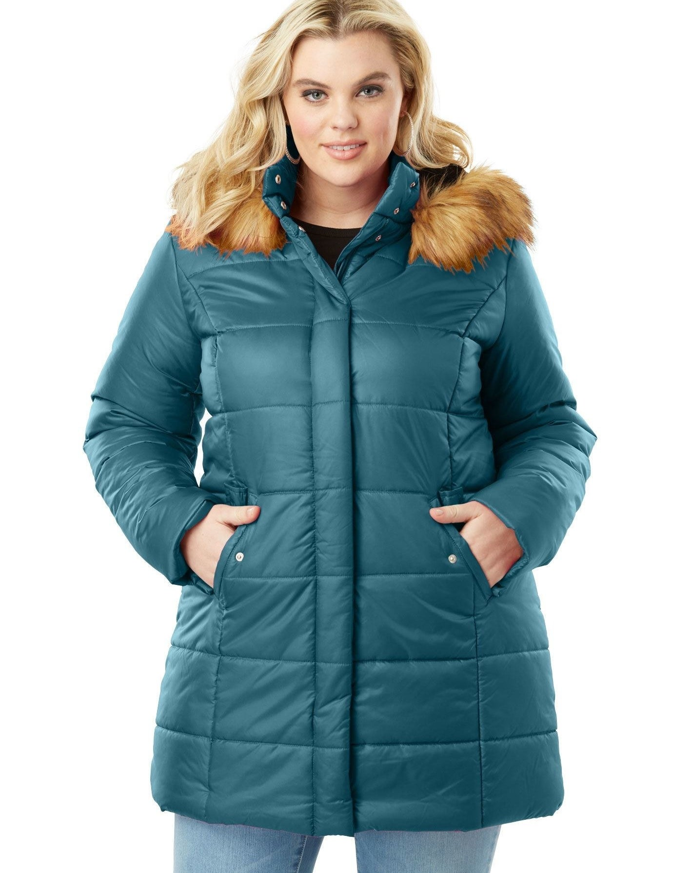 """Promising review: """"I was looking for a stylish winter coat that provides ultimate warmth, and this coat does exactly that! It's not bulky at all and cuts all wind. I did buy a couple sizes up just in case I wanted to layer and I'm glad I did. This coat fits exactly as I expected."""" —LisaPrice: $59.99 (available in four colors, and sizes 1XL–3XL)"""