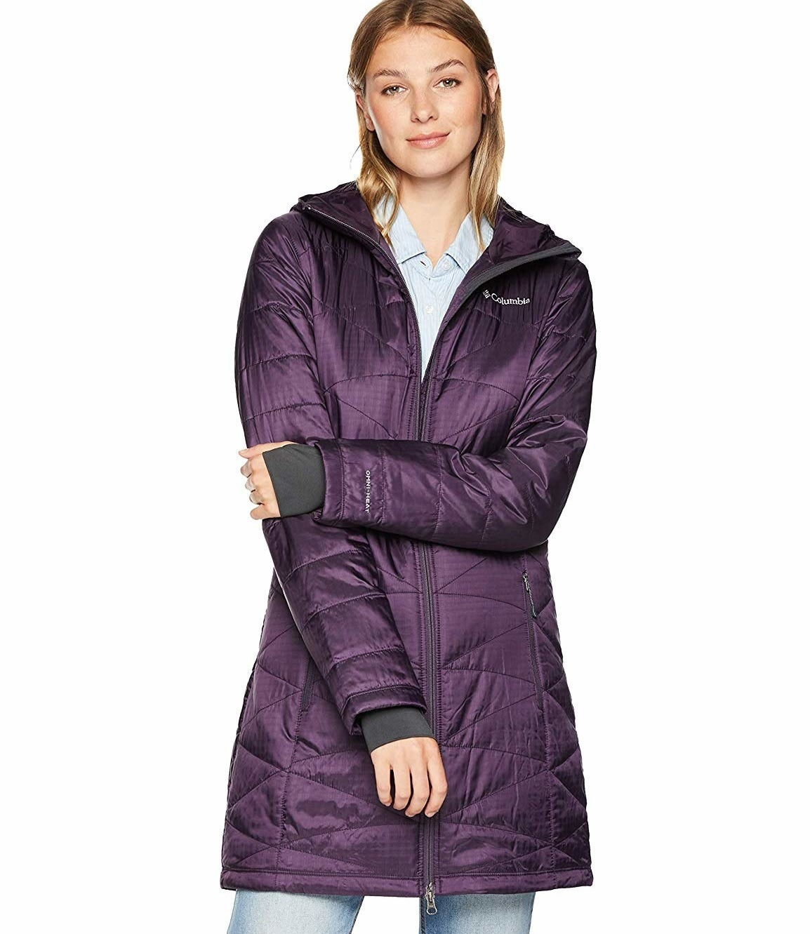 """Promising review: """"Okay ladies, if you're like me and hate the transition from your flip-flops and bathing suit to a winter coat and boots, this is the coat for you! I hate bulk and being all bundled up. This fits the bill, is extremely lightweight, has no bulk, and yet it's very warm. I LOVE THIS COAT. But remember, if you know Columbia products, they do run slightly on the smaller side. I normally wear a 2XL, and ordered a 3XL in this particular coat, and it fits perfectly with some room for a mid-weight sweater under it."""" —Lolita Price: $79.98+ (available in 12 styles, and sizes XS–3XL)"""