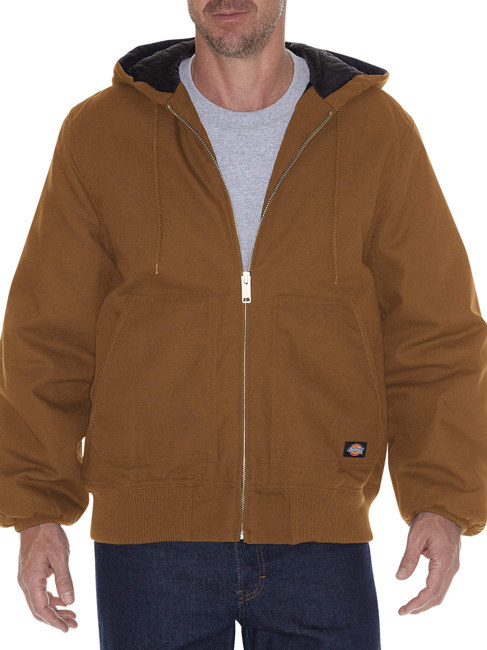 "Promising review: ""This jacket stays dry in the rain, sleet, and snow, which happens a lot during a Wisconsin winter. It's warmer than my other jackets, but not a sweatbox. I can wear it indoors and not feel too hot immediately. It's got a larger hood for wearing a hat or beanie under it, which Is a must during the -30-degree wind-chill days. It feels hardy, and it's comfy. I really like the jacket."" —Ryan J 