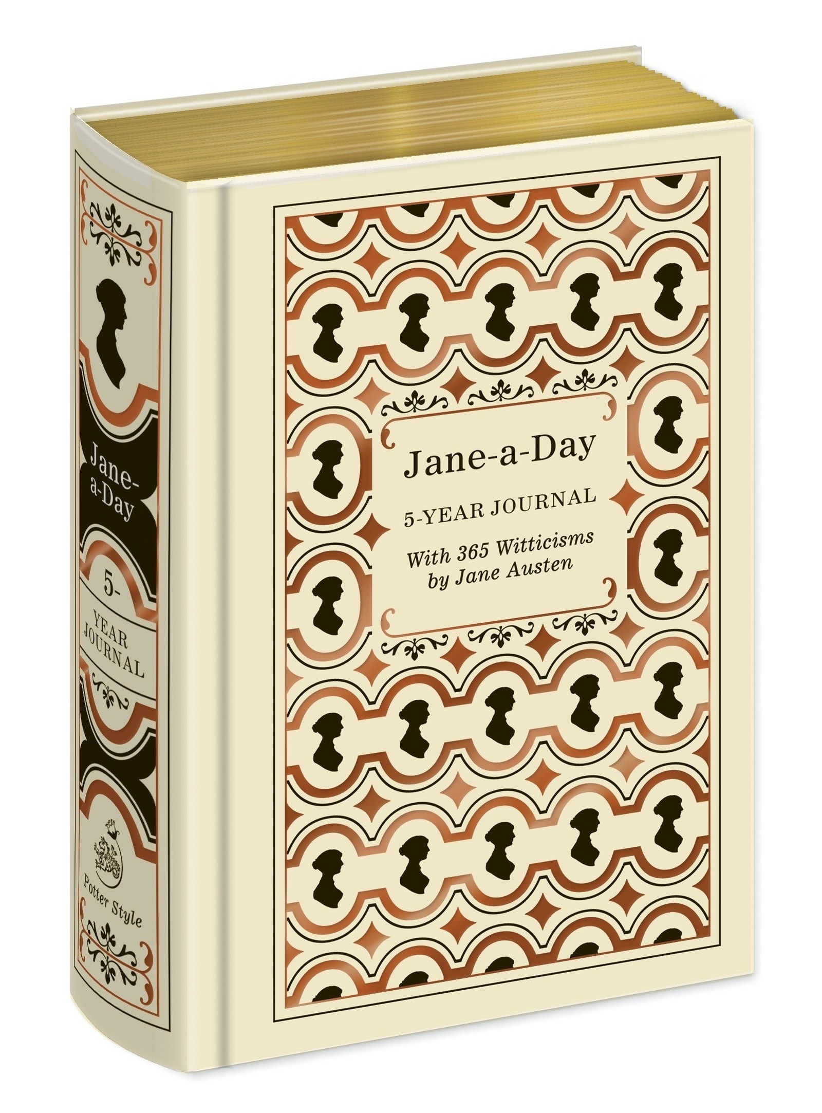 cover of Jane Austen five-year journal