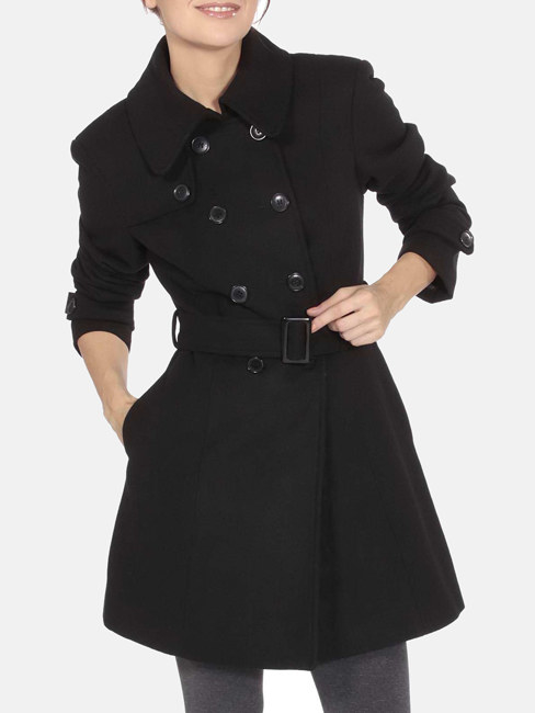 "Promising review: ""Based on the picture, it looked like a very loose-fitting coat, so I bought one size smaller. I normally wear size S, I got an XS. It fits fairly good. The sleeves are a little bit tight at the upper arm area. But for the money I spent on this coat, it is worth it. It is cute, warm, and stylish, and I love the color (olive)."" —ssg2