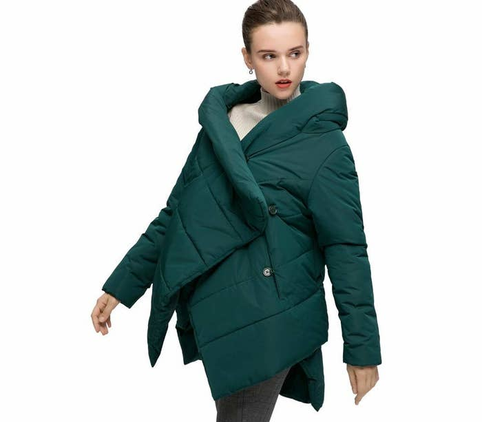 88134146ecd6c A winter cloak to spice things up from the usual winter jacket look — I bet  it's like nothing you own already, and everything you're gonna wanna own.