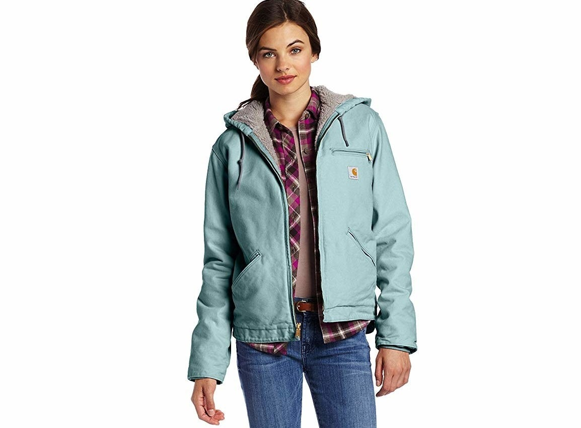 """Promising review: """"Absolutely love this jacket. It is very warm and cozy. The cut and length is perfect on me. I am 5'6"""" and 200 Ibs., and ordered the XL in the crab apple color. There is plenty of room in this jacket, and I could easily have fit a large. This is my new favorite jacket! I will never buy another brand after this."""" —Catherine Price: $69.99+ (available in seven colors, and sizes XS–2XL)"""
