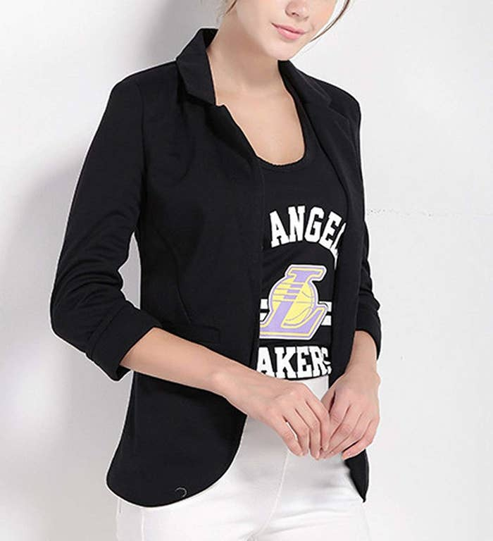 99b055cfd63 A sharp blazer for fashionably topping off your favorite band shirts that  you can t bear to part with for even one day.