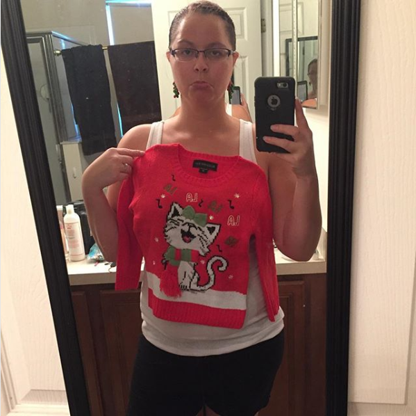 And the woman who only wanted a cute, size-medium Christmas sweater, but accidentally ordered it in a kid's medium