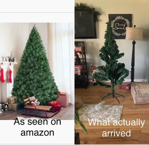The mom who only wanted the tree she ordered to look remotely like the photo in the ad